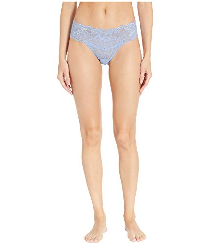 Hanky Panky Women's American Beauty Rose Natural Rise Thong, Bonnie Blue, Small