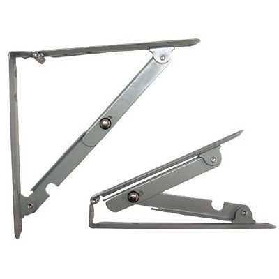 S Parker 16'' Folding Shelf Bracket (Sold In Pairs)