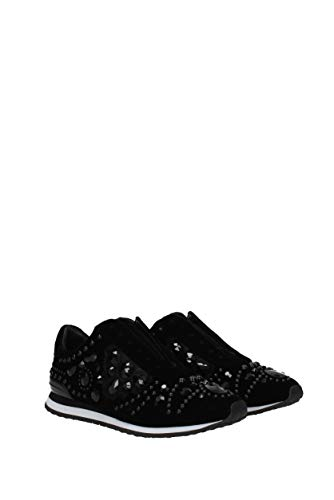 40367 Women Black Tory Uk Sneakers Burch Tunner Scarlett Velvet Oq6YS7p