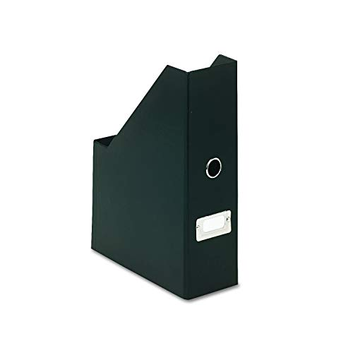 Snap-N-Store Fiberboard Magazine File with PVC Laminate, 12.25 x 3.88 x 9.75 Inches, Black -