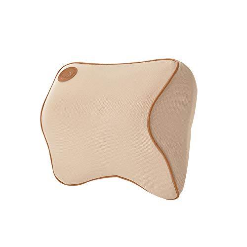 Ecloud Shop Car Headrest Pillow,Car Neck Support Premium Memory Foam Cushion – Ergonomically Design Universal Fit Major Car Seat – Beige