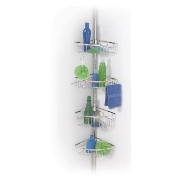 Stainless Steel Tension Pole Bath Shower Caddy