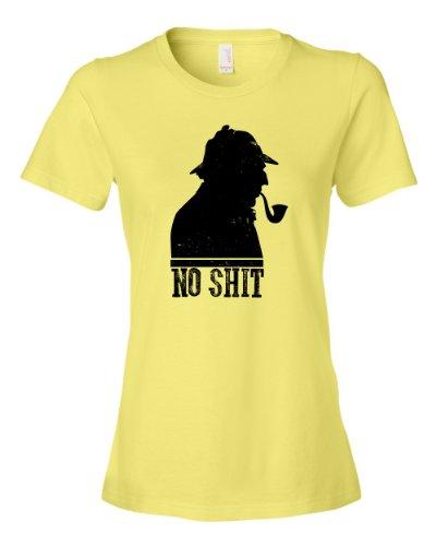 No Sh!# Sherlock Tee Shirt Womens XXL yellow N -