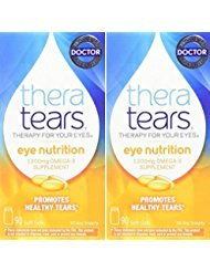 Thera Tears Nutrition, 1200mg Omega-3 Supplement Capsules, 90-Count (Pack of 2)