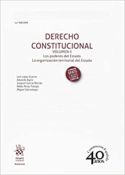 Derecho Constitucional Volumen Ii 11ª Edición 2018 por Luis López Guerra