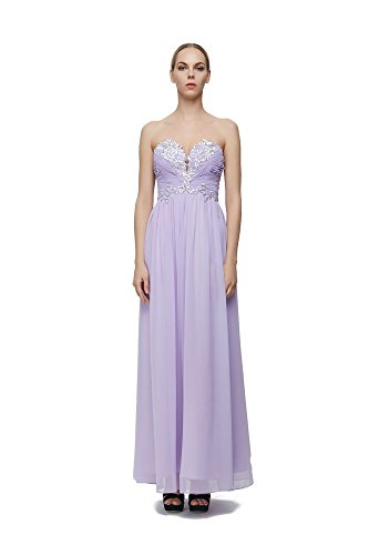 Fashion Perfactory Ruffled Beading Sweetheart Strapless Bridesmaid Prom Dress