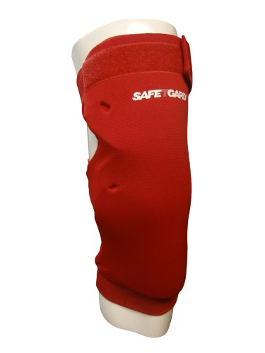 SafeTGard Large Long Sliding/Fielding Leg Pad (Scarlet Red)