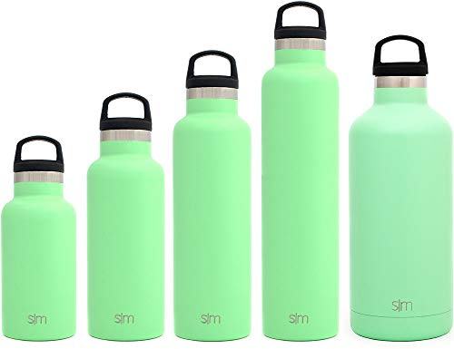 Simple Modern 32oz Ascent Water Bottle - Stainless Steel Hydro Swell Flask w/Handle Lid - Metal Double Wall Vacuum Insulated Green Reusable Tumbler Aluminum 1 Liter Cold Leak Proof - Mint -  ASC-32-MG