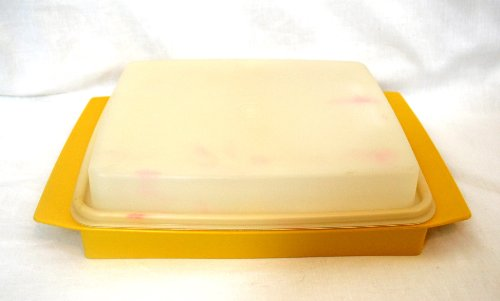 (Tupperware Vintage Gold Deviled Egg Tray)