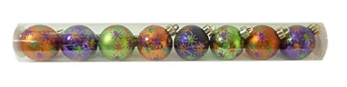 Darice Halloween Spiders 45mm Plastic Mini Ornament Set of 8 -