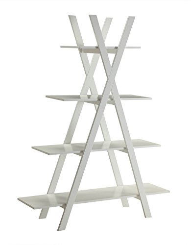 "Review Convenience Concepts Oxford ""A"" Frame Bookshelf, White By Convenience Concepts by Convenience Concepts"