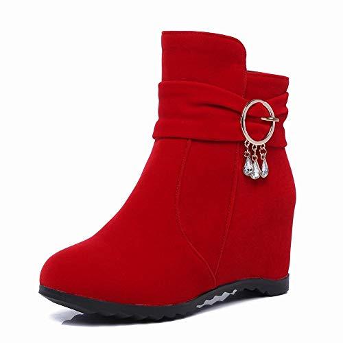 È 's Formato autunno Opaco Stivali Stivali Di Aumentato Donne Rosso E 'scarpe Modo Brevi' Grande' 43 Zj donne In Caldi Inverno S Nel Women Stivali 34 Le tYv1Wxqa