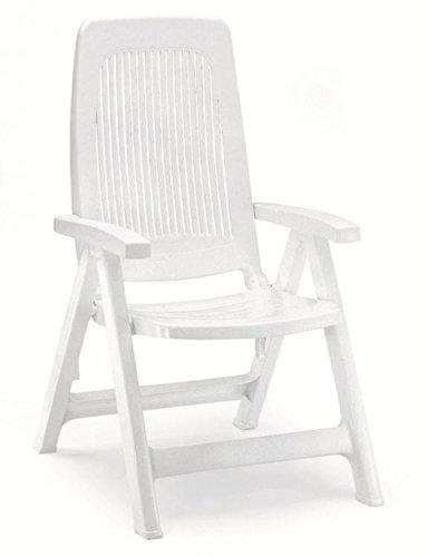 Dos sillones en resina blanca, sillones respaldo alto de ...