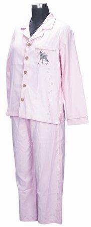 - TuffRider Girl's Renee Pj's Shirt/Pant Set, Pink/Tan, X-Small