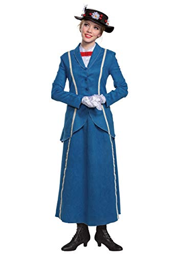 Mary Poppins Halloween Outfit (Disguise Adult Mary Poppins Halloween Costume Mary Poppins Costumes for Women Large)
