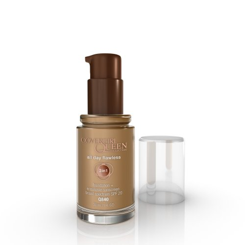 COVERGIRL Queen Collection All Day Flawless Foundation, Almond Glow Q840, 1 Oz