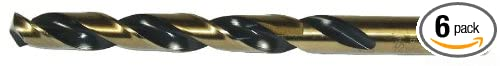 Jobbers Length Dottie HS28 Drill Bit 7//16-inch Diameter by 5-1//2-Inch Length 6-Pack L.H Black and Gold