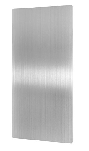 """Alpine Stainless Steel Hand Dryer Wall Guard - 31.8"""" x 15.8"""" Hand Dryer Splash Guard Steel for Wall Damage & Splash Protection with Ultra Strength Adhesive"""