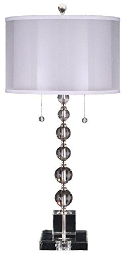 Dale Tiffany GT12097 Optic Orb Table Lamp, Satin Nickel (Crystal Optic Solid)