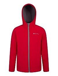 Mountain Warehouse Exodus Kids Softshell Jacket - Cool Childrens Coat Red 9-10 years