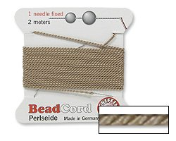 Griffin Bead Cord 100% Natural Silk Beige (Natural Silk Cord)