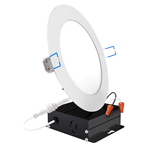 Sunco Lighting 6 Inch Slim LED Downlight with Junction Box, 14W=100W, 850 LM, Dimmable, 5000K Daylight, Recessed Jbox Fixture, Simple Retrofit Installation - ETL & Energy Star