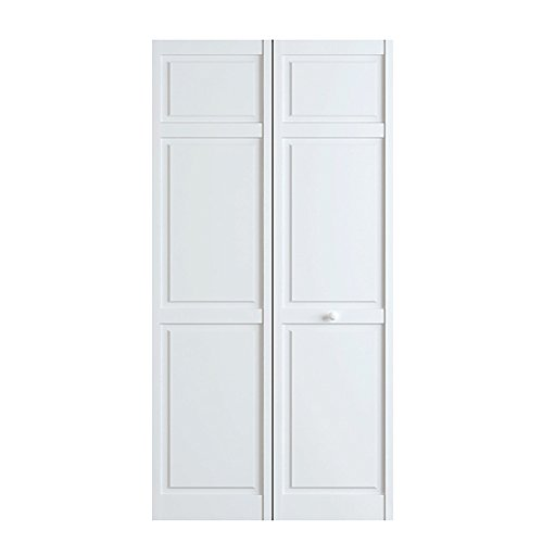 Closet Door, Bi-fold, 6-panel Style Primed White 1x36x80 - Wood Closet Doors