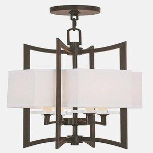 Livex Lighting 50703-67 Woodland Park 4-Light Foyer Chandelier, Olde - Woodland Wall Fixture