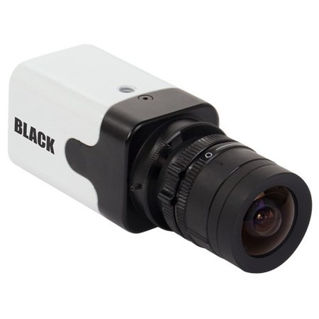 BLACK 700TVL 960H Resolution D-WDR C-Mount Box Security Camera