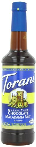 Torani Sugar Free Syrup, Chocolate Macadamia Nut, 25.4 Ounce (Pack of 4) ()