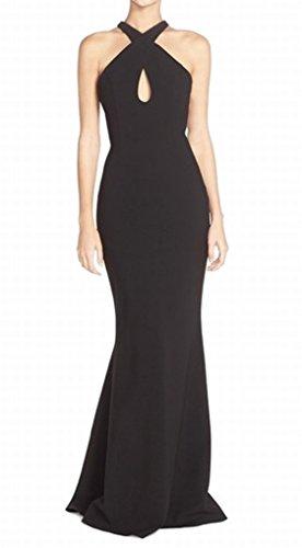 UPC 614016037075, Jill Jill Stuart Women's Criss Cross Neck and Back Gown, Black, 6