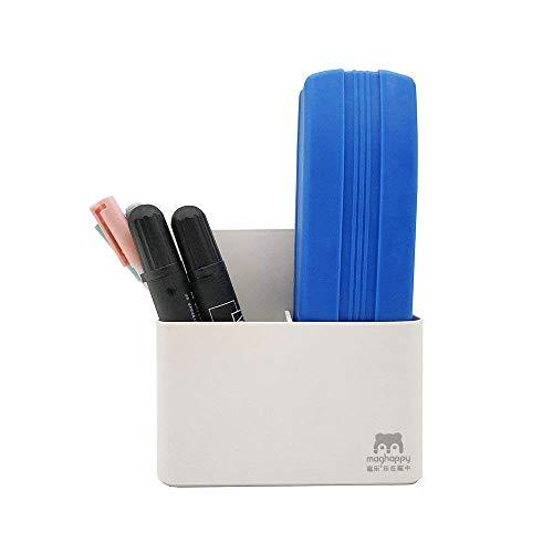 (Goblin's Treasures Magnetic Dry Erase Marker Holder, Magnetic Pen Holder Whiteboard Pen Holder Dry Erase Marker and Eraser Organizer,Powerful Neodymium Magnets)