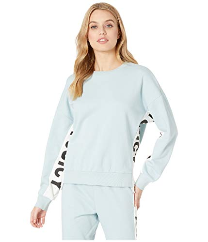 Juicy Couture Juicy Womens Logo Side-Panel French Terry Sweatshirt Blue L