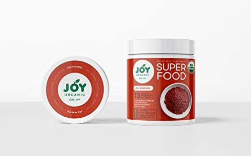 Joy Organic Red Renewal Superfood – Vital Reds Whole Food Supplement with Beet, Cranberry, Strawberry - Boosts Metabolism, Combats Effects of Aging and Enhances Memory – Vegan – 30 Servings