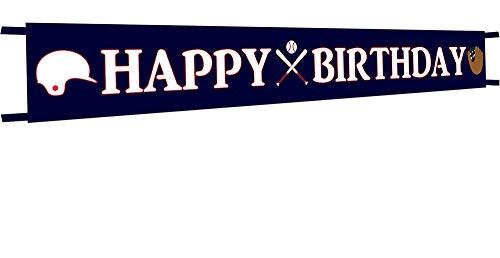 Large Baseball Happy Birthday Banner,Baseball Birthday Party Bunting Banner, Happy Birthday Sports Party Decorations -