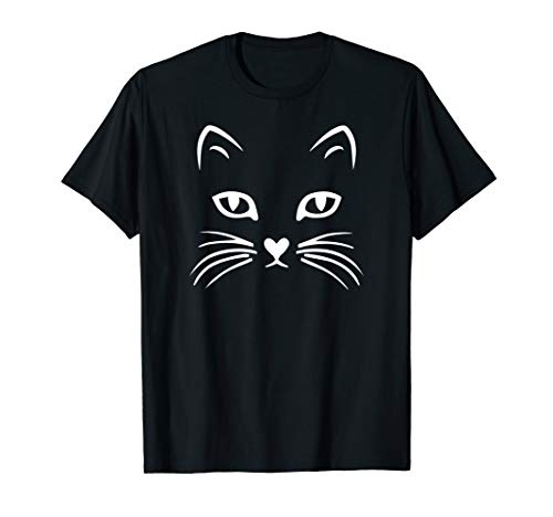 Girl Cat Face For Halloween (Cat Face T Shirt: Halloween Tshirt For Women Girls Boys Kids)