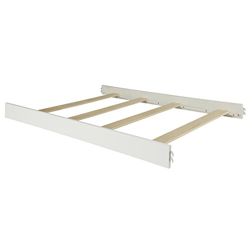 Evolur  Universal Convertible Crib Wooden Full Size Bed Rail in White,40 Pound by Evolur