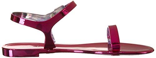 BUFFALO Pth-0011 Pvc, Sandalias con Cuña para Mujer Morado (Fuchsia 01)