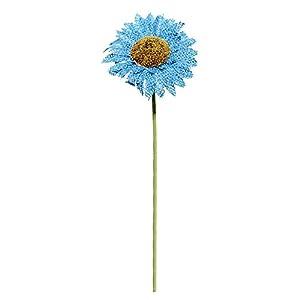 "Blue Burlap Daisy Flowers - 18"" - Set of 3 106"