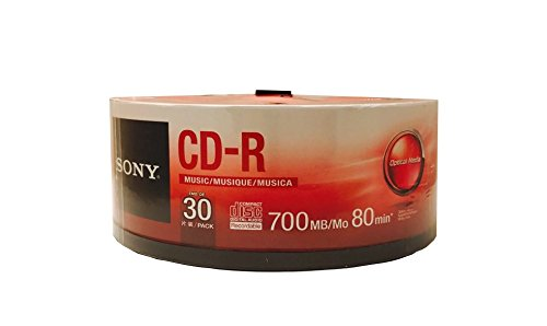 Sony 30CRM80SP 30-Pack CD-R Music Spindle