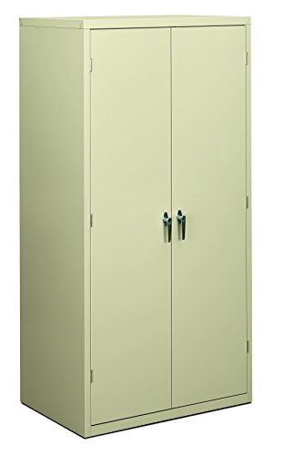 2 Drawer Cherry Armoire - HON Brigade Series Five-Shelf Storage Cabinet - High Storage Cabinet, 36w by 24d by 72h , Putty (HSC2472)