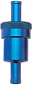 Russell 645140 Blue Anodized Aluminum Street Fuel Filter