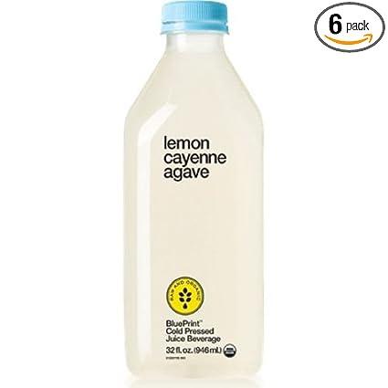 Amazon blueprint organic lemon cayenne agave juice 32 fluid amazon blueprint organic lemon cayenne agave juice 32 fluid ounce 6 per case grocery gourmet food malvernweather Images