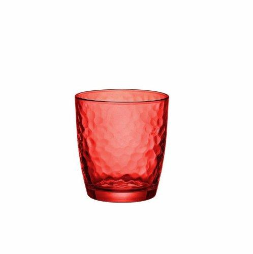 (Bormioli Rocco Palatina Rocks Glasses, Red, Set of 6)