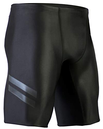 (Onvous Mens Raven Compression Racing Swimsuit & Cross-Training Jammer/Shorts (32) Jet Black)
