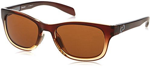 Native Eyewear Highline Polarized Sunglass, Stout Fade and Iron Temple Frame/Brown Lens