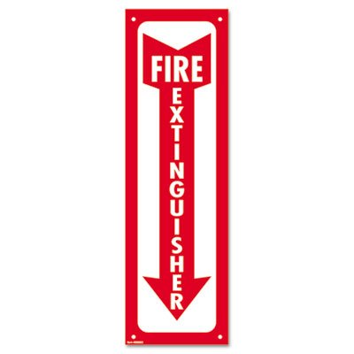 UPC 039956980630, Glow-In-The-Dark Safety Sign, Fire Extinguisher, 4 x 13, Red