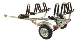 Malone Auto Racks MicroSport Trailer Kayak Transport Package with 4 Malone J-Pro2 Kayak Carriers, Outdoor Stuffs