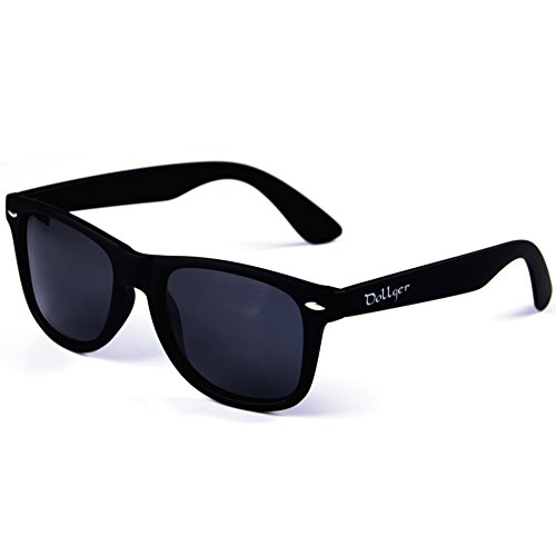 Dollger Classic Wayfarer Sunglasses Polarized Matte Black Frame Retro - In Sunglasses Men Black