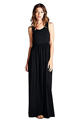Vanilla Bay Solid Racerback Pocket Maxi Dress
